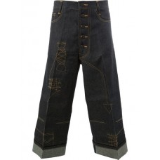 Christopher Nemeth Cropped Wide leg Trousers TRS 215 DARK Linen/Flax 20% Men's Cropped Trousers 12888287 FBDNQAQ