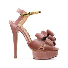 NEU Charlotte Olympia Fabulous 145 Sandals A303 PINK GOLD Calf Leather 100% 13103957 YJNCNSS
