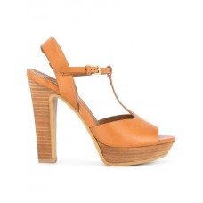 NEU See By Chloé Open Toe High Sandals brown Calf Leather 100% 13428630 UDYWHJP