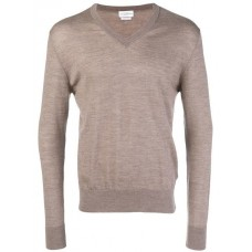 Ballantyne V neck Knitted Jumper 14121 TORTORA Virgin Wool 100% Men's Sweatshirts 13224501 KKQDNBS