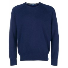 Barba Crew Neck Sweater 586 blu Cashmere 100% Men's Sweatshirts 13212966 BGMCTSC