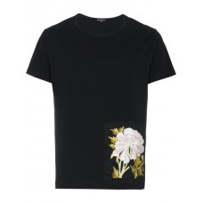 Ann Demeulemeester Embroidered Patch T shirt BLACK Viscose 100% Men's T-Shirts 12478954 EEXTMVR