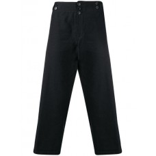 Ann Demeulemeester Buttoned Cropped Trousers 098 OFF-BLACK Cotton 100% Men's Cropped Trousers 13408539 UALFSAL