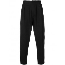 Ann Demeulemeester Grise High Waisted Cropped Trousers 099 BLACK Linen/Flax 75% Men's Cropped Trousers 12611042 UGSHEJT