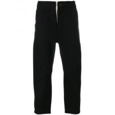 Cedric Jacquemyn Cropped Trousers BLACK Linen/Flax 39% Men's Cropped Trousers 12465016 GCQLPUT