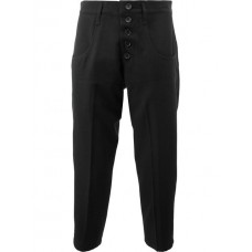 Christopher Nemeth Cropped Buttoned Trousers TRS 42S BLACK Wool 100% Men's Cropped Trousers 12461881 TWWRDAY