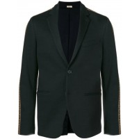 Fendi Embellished Fitted Blazer F0QA1-BLACK Polyester 45% Men's Casual Blazers 12936815 TRSIHJP