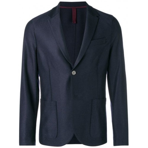 Harris Wharf London Perfectly Fitted Jacket 358 NAVY BLUE Virgin Wool 100% Men's Casual Blazers 13122847 OKGTMEQ