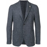 Lardini Textured Blazer 5 BLUE BLACK Polyester 100% Men's Casual Blazers 13349844 TQKCPTS