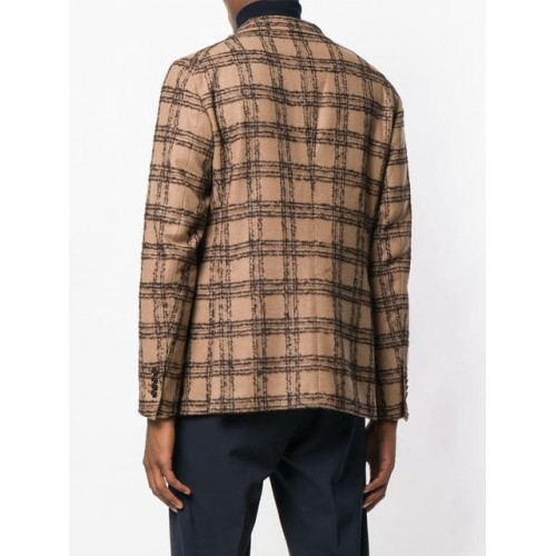 Tagliatore Checked Blazer A1551 BEIGE/ BROWN Virgin Wool 66% Men's Casual Blazers 13319407 ORHLGVX