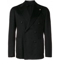 Tagliatore Tailored Button Fastened Jacket N3389 BLACK Camel Hair 100% Men's Casual Blazers 13113509 DNATGAH