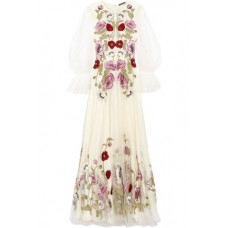 ALEXANDER MCQUEEN Embroidered tulle gown White New Products Discount 2526016083672611 CPRWjvAA
