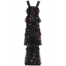 ALICE McCALL She Moves Me tiered embroidered tulle gown Black New Products Discount 1188406768872079 H6piq748