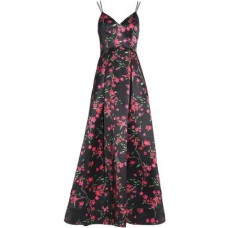 ALICE + OLIVIA Marilla floral-print duchesse satin gown Black New Products Discount 13331180552128992 iwbR7uW7