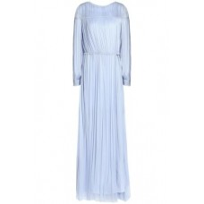 AMANDA WAKELEY Open-back gathered silk gown Sky blue New Products Discount 3633577410393741 LcLMuo5z