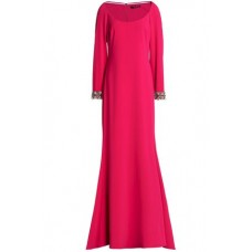 BADGLEY MISCHKA Crystal-embellished crepe gown Fuchsia New Products Discount 14693524283373582 Safn1IBV