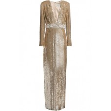 BADGLEY MISCHKA Embellished sequined tulle gown Gold New Products Discount 1050808922083 OaUZ1ima