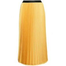 08Sircus Midi Pleated Skirt 40 HONEY YELLOW Triacetate 64% Women's Pleated Skirts 13404415 UJNPXKA