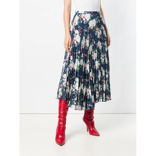 Act N°1 Floral Pleated Skirt 01 Polyester 100% Women's Pleated Skirts 13279341 ESZHHGW
