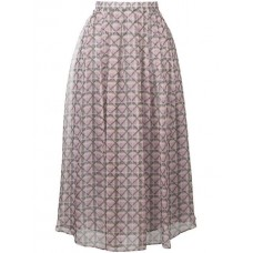 Alexa Chung Pleated Geometric Midi Skirt 135 PURPLE Polyester 100% Women's Pleated Skirts 13423905 XIDPNHX