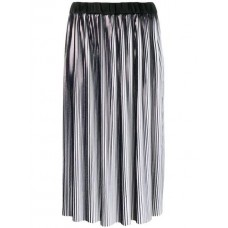 Balmain Loose Pleated Skirt C5101 NOIR/BLANC Viscose 40% Women's Pleated Skirts 13409347 DIPKVTS