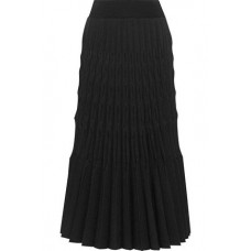BARBARA CASASOLA Pleated midi skirt Black New Products Discount 4772211933208530 cy9N4XYL