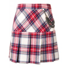 Boutique Moschino Plaid Pleated Skirt 1888 Polyamide 17% Women's Pleated Skirts 13172341 CIGKGDB