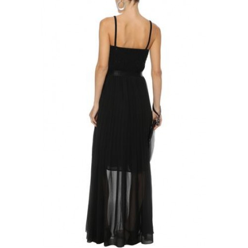 BY MALENE BIRGER Lallah pleated chiffon maxi skirt Black New Products Discount 1016843419796167 qtrIXN0z