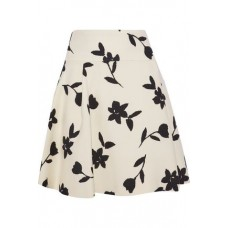 CAROLINA HERRERA Pleated intarsia wool-twill mini skirt Cream New Products Discount 4146401443612943 CUxCpvML
