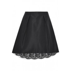 CAROLINA HERRERA Pleated silk-faille skirt Black New Products Discount 4146401443588861 CT2zivec