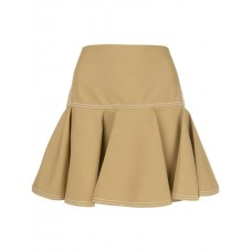 Chloé Pleated Mini Skirt 3B6-AMBER OLIVE Polyester 55% Women's Pleated Skirts 13146743 TSMMAPK