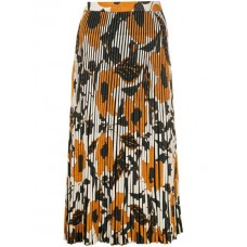 Christian Wijnants Karma Fasella Skirt FASELLA FLOWER ORANGE Viscose 96% Women's Pleated Skirts 13206907 ZCPDCCZ
