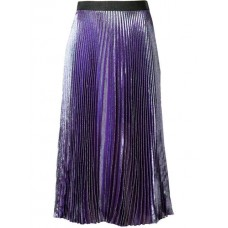 Christopher Kane Lame Pleated Skirt 5140 JEWEL PURPLE Polyester 32% Women's Pleated Skirts 12941843 MDKKCCY