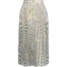 CHRISTOPHER KANE Pleated printed silk-organza skirt Light gray New Products Discount 4146401443657966 mvxU2KoF