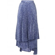 Clu Asymmetric Pleated Skirt Polyester 100% Women's Pleated Skirts 13133203 NBBICGA