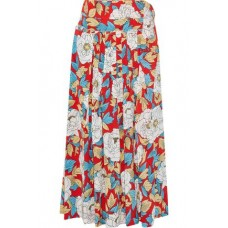 DIANE VON FURSTENBERG Pleated floral-print silk crepe de chine midi wrap skirt Papaya New Products Discount 4146401444717389 af0F6MVc