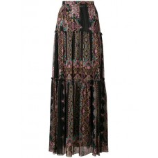 Etro Printed Pleated Skirt 1 multicolor Silk 100% Women's Pleated Skirts 13162462 LTNWESO