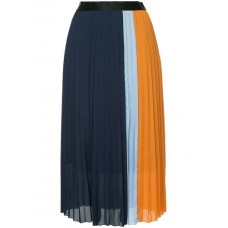 Guild Prime Panelled Pleated Skirt NAVY Polyester 100% Women's Pleated Skirts 13327677 RKMBQIO