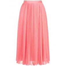 H Beauty&Youth Pleated Midi Skirt PINK Polyester 100% Women's Pleated Skirts 13034012 SJQNDPO
