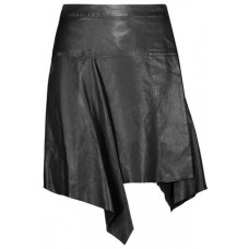 ISABEL MARANT Calliope asymmetric pleated leather mini skirt Black New Products Discount 1071994539458286 ZoT7ckmL