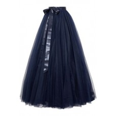JENNY PACKHAM Pleated tulle maxi skirt Navy New Products Discount 7668287966475983 V8wnmd2s