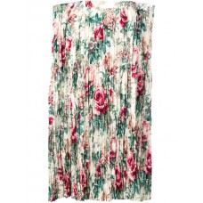 Junya Watanabe Floral Print Pleated Skirt WHT/RED/PINK Polyester 100% Women's Pleated Skirts 13167776 FXFAROC