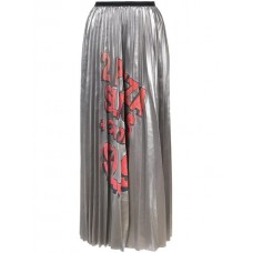 Marc Jacobs Metallic Pleated Skirt SILVER Polyester 100% Women's Pleated Skirts 13093886 TQCFPWU