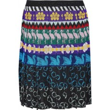 MARY KATRANTZOU Mandy pleated metallic intarsia-knit skirt Multicolor New Products Discount 1188406768678339 y5DfZvCF