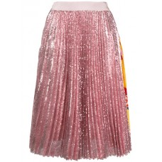 MSGM Pleated Sequin Midi Skirt 12 Polyester 100% Women's Pleated Skirts 12973197 QLCILTP