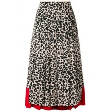 Nº21 Leopard Print Pleated Skirt 0002 FANTASIA Acetate 10% Women's Pleated Skirts 12994804 QSOHJXY
