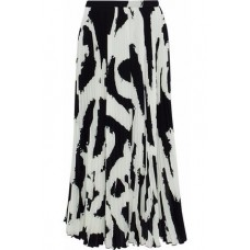 PROENZA SCHOULER Pleated printed crepe midi skirt Black New Products Discount 1874378722803842 dlP8qkyU