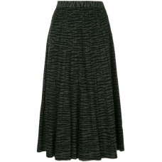 Proenza Schouler Tiger Jacquard Knit Pleated Skirt FOREST GREEN/BLACK Polyester 22% Women's Pleated Skirts 12832445 WBNWEIE
