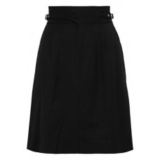 RAOUL Buckle-detailed pleated twill mini pencil skirt Black New Products Discount 9057334113714085 sV5OPDMJ