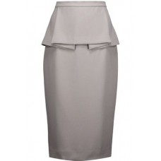 RAOUL Francis pleated peplum crepe skirt Stone New Products Discount 2526016082591461 OBN00OsQ
